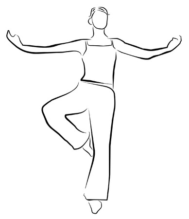 vector illustration yoga player symbol Stock Vector - 24020254