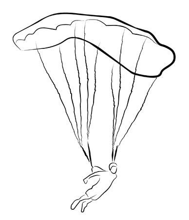skydiving Vector
