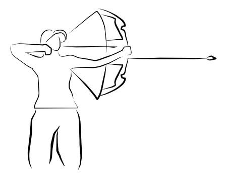 archery: archery sport illustration