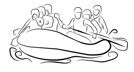 whitewater: rafting sport