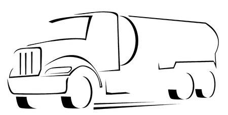 vector Illustration of water truck  Illustration