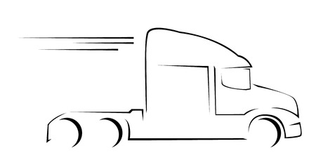 trucking: Truck Symbol Vector Illustration