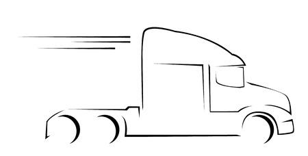 fast driving: Truck Symbol Vector Illustration