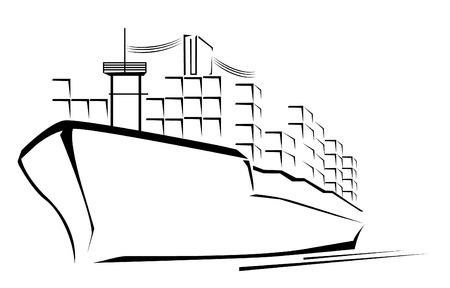 tanker: Cargo Ship Symbol