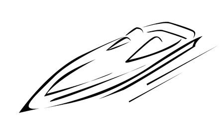 speed boat: Barco de la velocidad Vectores