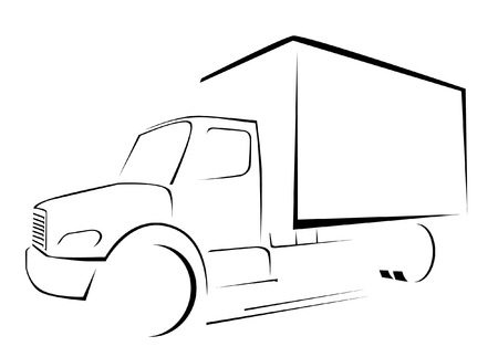 cargo truck: Truck Symbol Illustration