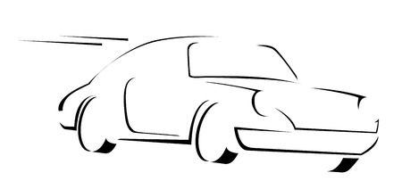 Muscle Car Symbol  Illustration