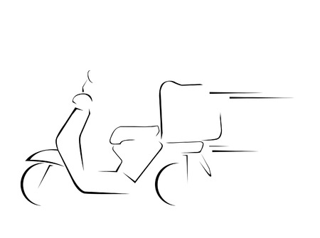 delivery motorcycle  Vector