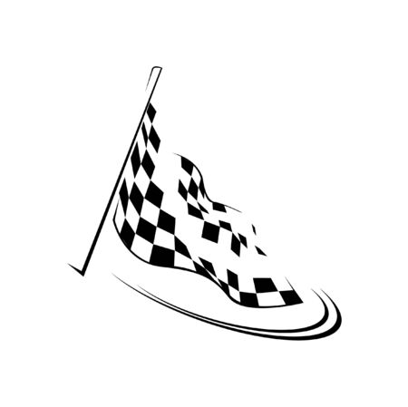 checker flag: race flag  Illustration