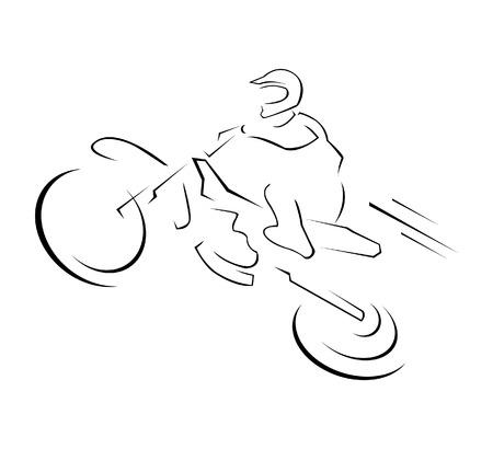 Moto Trail Illustrazione Vettoriali