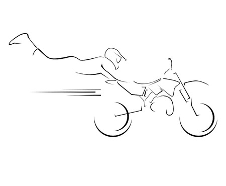 motocross riders: illustration moto cross symbol