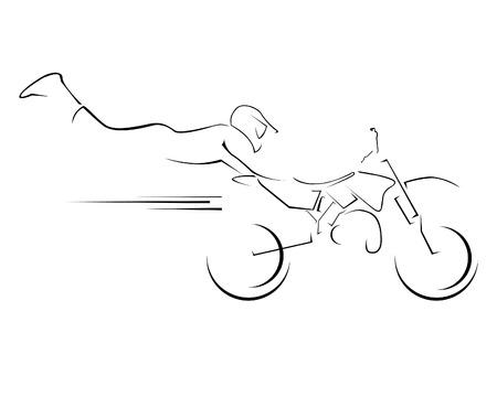 motocross: illustration moto cross symbol
