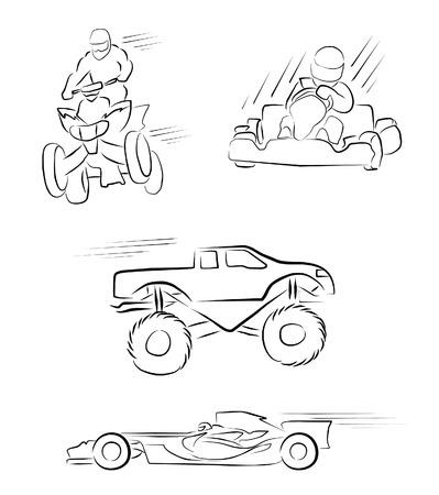 sport cartoon: Ottomotive Sport Symbol Collection