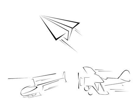 Air Transportation Set Collection Illustration