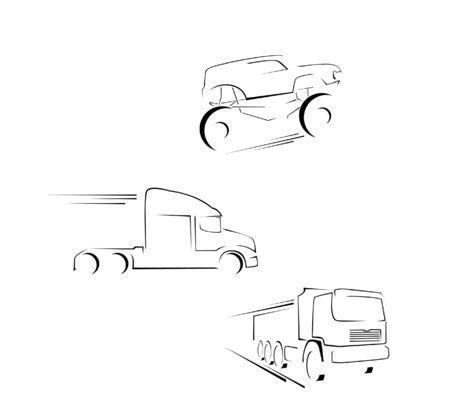 diesel engine: Big Truck Set Collection