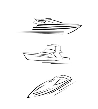 boat motor: Speed Boat Set Collection