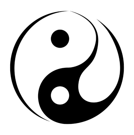 Yin And Yang Simple Symbol Vector