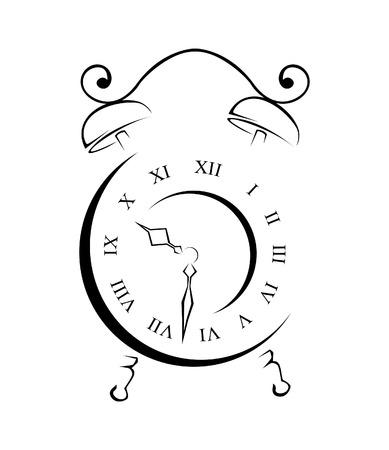 Old Clock Simple Symbol Vector