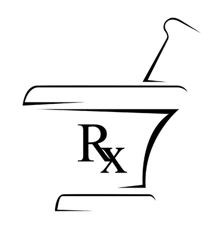 mortar and pestle medicine: Medical Rx Simple Symbol