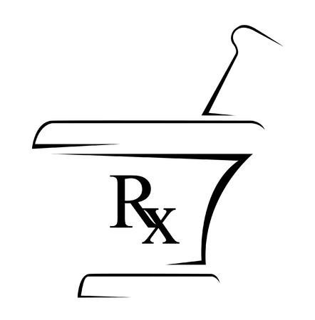 Medisch Rx Eenvoudige Symbool
