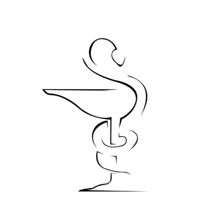 aesculapius: Medical Sign Simple Symbol