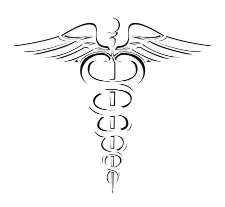 medical caduceus: Medical Sign Simple Symbol