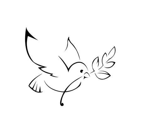 dove of peace Simple Symbol Vector