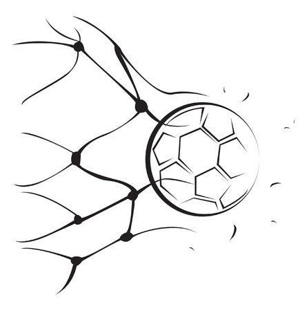 soccer net: Foot Ball Goal Illustration
