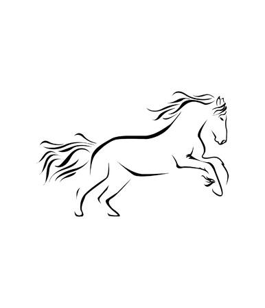 schattenbilder tiere: Pferde Symbol Vector Illustration