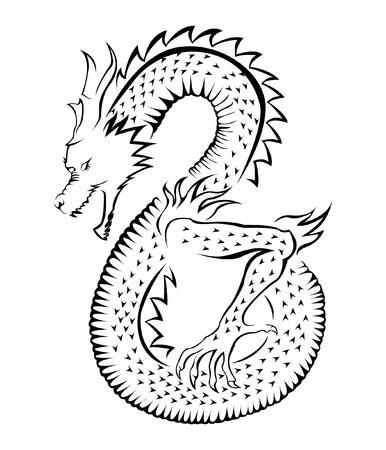 tatouage dragon: Symbole du Dragon Illustration