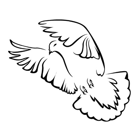 paloma de la paz: paloma de la paz simple Símbolo
