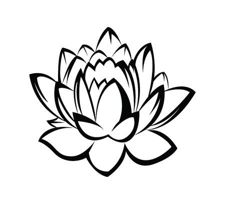 abstract flower: Lotus