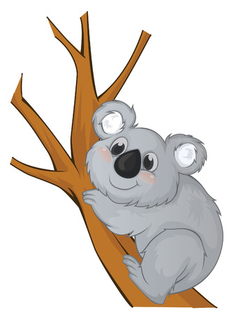Koala Vector Cartoon Illustration Vector