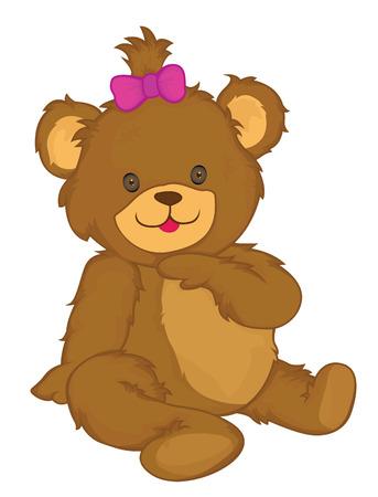 valentine s day teddy bear: Bear Vector Cartoon Illustration