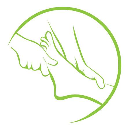 pied fille: Massage des pieds