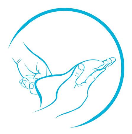 Masaż stóp Ilustracje wektorowe