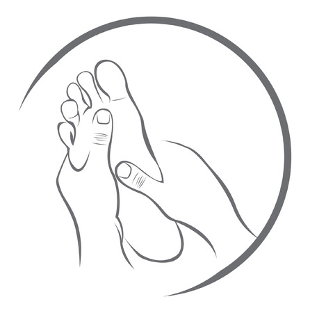 Foot Massage Vector