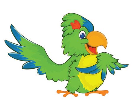 loros verdes: Green Parrot