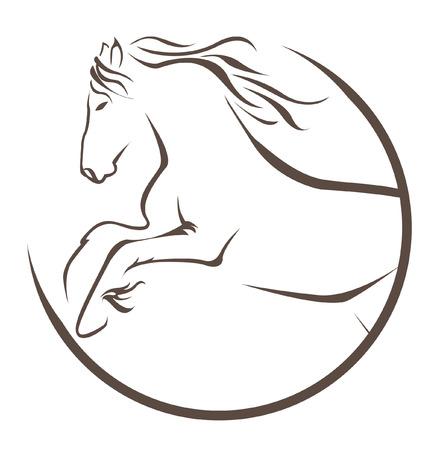 animals in the wild: horse symbol  Illustration