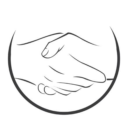 shake hand: Shake Hand Symbol Illustration
