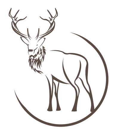 deer silhouette: deer symbol