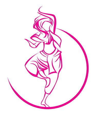 india dance: Dance India symbol Illustration