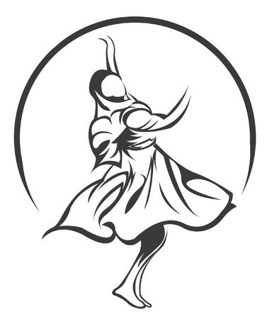india dance symbol Vector