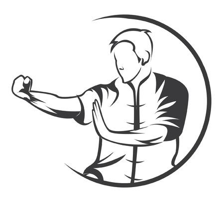 martial art symbol Illustration