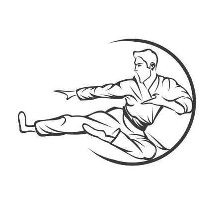 martial art symbol Illustration