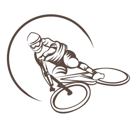 Bicycle Sport Downhill Symbol Vector