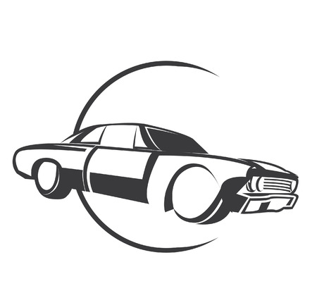 Muscle Car Symbol Vector