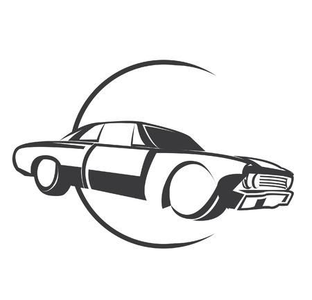 Muscle Car Symbol Vector