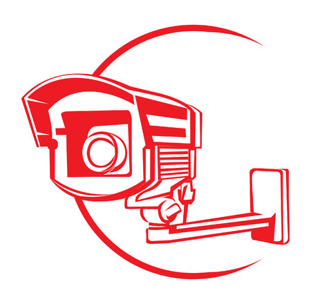 Security Camera Stock Illustratie