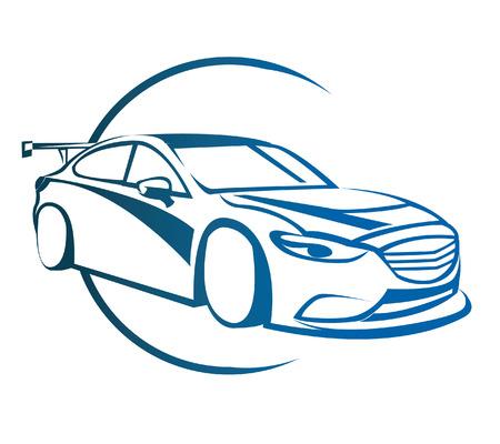 Drift Car Symbol Vector
